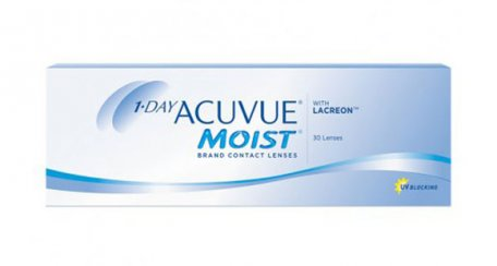 1-DAY ACUVUE® MOIST Contact Lenses packaging