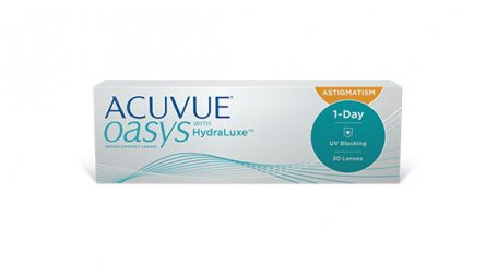 ACUVUE® OASYS 1-Day with HydraLuxe® Technology for ASTIGMATISM packaging