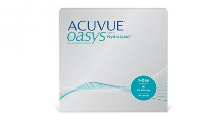 ACUVUE® OASYS 1-Day with HydraLuxe® Technology packaging