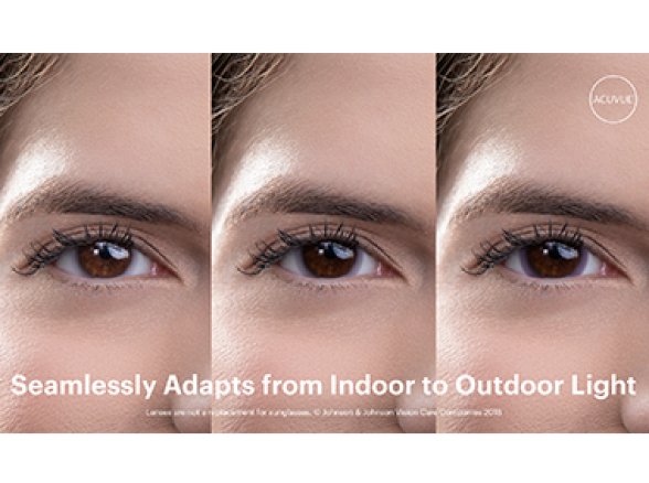 Image of eyes adjusting using ACUVUE® OASYS lenses with Transitions™
